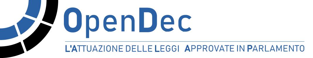 OpenDec - l'attuazione delle leggi approvate in parlamento